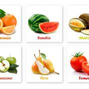 Fichas de Frutas